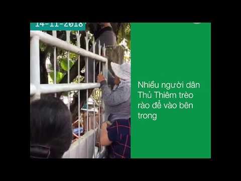 Người dân Thủ Thiêm trèo rào để dự cuộc đối thoại với lãnh đạo
