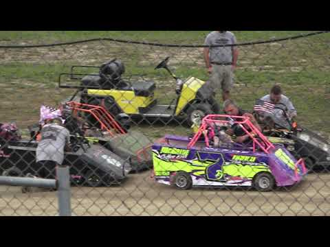 Mini Wedge 6-9 A-Feature at Mid Michigan Raceway Park, Michigan on 10-02-2021!! - dirt track racing video image