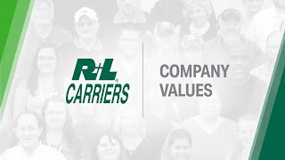R+L Carriers Company Values | Family, Service, Safety, Quality