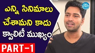 Actor Allari Naresh Interview Part #1 || Talking Movies with iDream