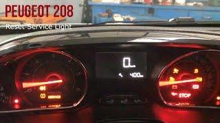 Reset service Peugeot 208 da 2012