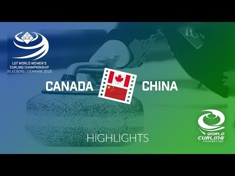 HIGHLIGHTS: Canada v China - round robin - LGT World Women's Curling Championship 2019