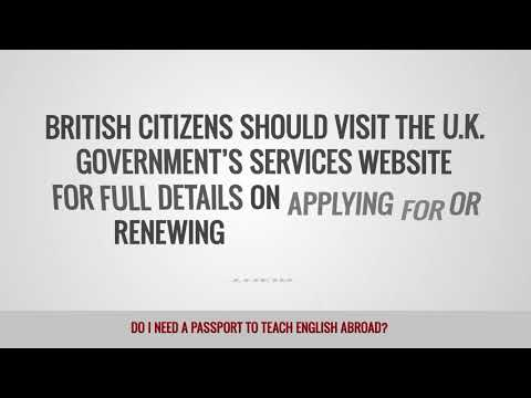 video telling if you need a passport to work as a TEFL teacher around the world