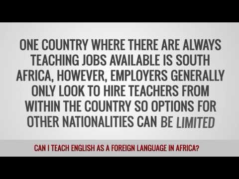video on whether you can teach EFL students in Africa or not