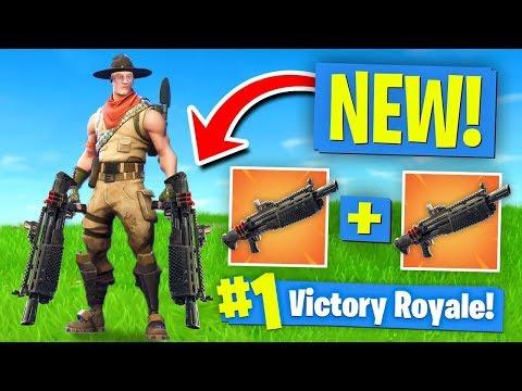 *NEW* DOUBLE HEAVY SHOTGUN Strategy! Fortnite Battle Royale - UCh7EqOZt7EvO2osuKbIlpGg