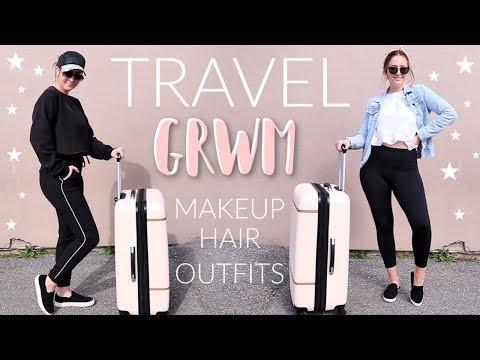 GRWM: Travel Makeup, Hair, + Outfit Ideas 2019!