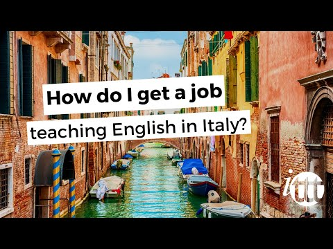 video about TEFL job searching in Italy