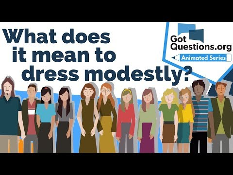 What does it mean to dress modestly?
