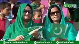 Residents of Larkana Celenrating Independence day with traditional zeal