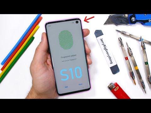 Galaxy S10 Durability Test - Ultrasonic Fingerprint Scratched?! - UCWFKCr40YwOZQx8FHU_ZqqQ