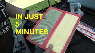 Come sostituire filtro aria Audi A3 8P