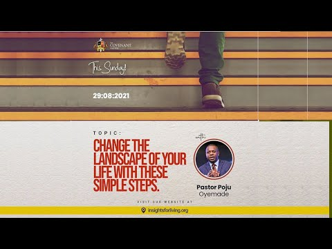 Change The Landscape Of Your Life With These Simple Steps  2nd Service  29082021