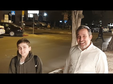 Shuki's Bar Mitzvah Training in Jerusalem w/ Rabbi Shapira