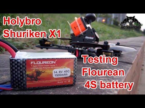 Holybro Shuriken X1 FPV Racing Drone Testing Flourean Battery - UCsFctXdFnbeoKpLefdEloEQ