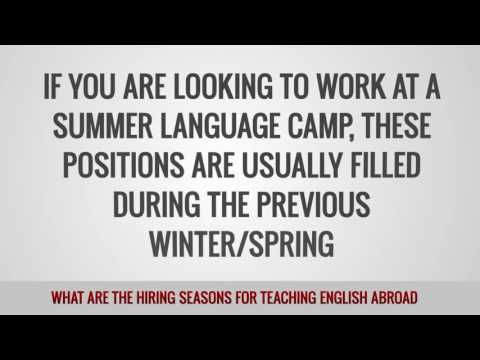 video telling about some seasonal aspects of TEFL recruitment