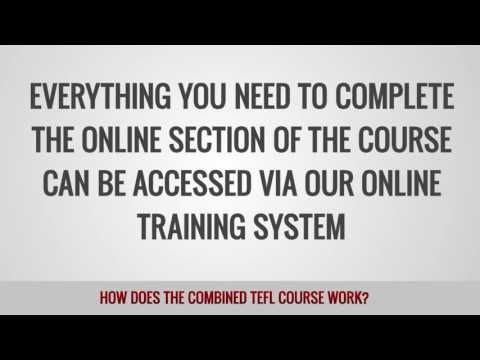 video on the combined TEFL course peculiarities
