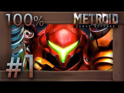 Metroid Samus Returns - 100% Walkthrough Part 1 | Surface (All Missiles & Energy Tanks) 3DS Gameplay - UCtinbF-Q-fVthA0qrFQTgXQ