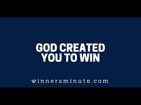 God Created You to Win  The Winner's Minute With Mac Hammond