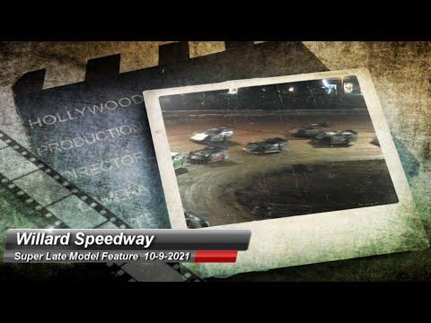 Willard Speedway - Super Late Model Feature - 10/9/2021 - dirt track racing video image