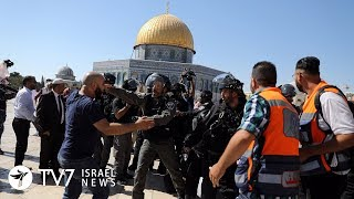 Temple Mount Clashes Erupt as Muslims refuse Jewish Presence - 12.8.19 TV7 Israel News