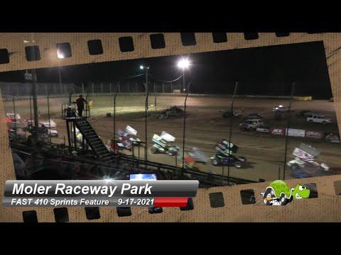 Moler Raceway Park - FAST 410 Sprint Series Feature - 9/17/2021 - dirt track racing video image