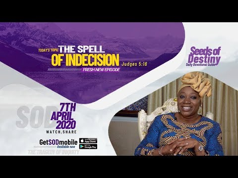 Dr Becky Paul-Enenche - SEEDS OF DESTINY  TUESDAY APRIL 7, 2020