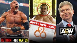 WWE's First ATTACK to Destroy AEW REVEALED👊 Rusev NEW LOOK! Goldberg RETURNS Match! NXT Vs AEW