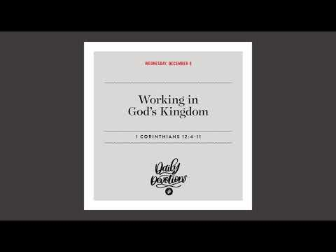 Working in Gods Kingdom   Daily Devotional