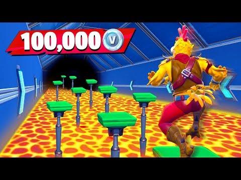 little brother gets 100k vbucks if he wins fortnite floor is lava parkour challenge - custom matchmaking codes fortnite