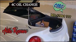 Cambio olio motore 4C-Alfa Romeo