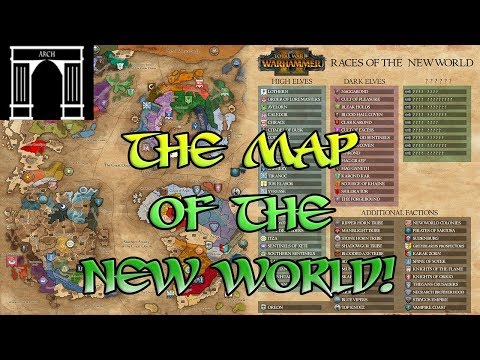 Total War Warhammer 2 A Map Of The New World Mdp Lt