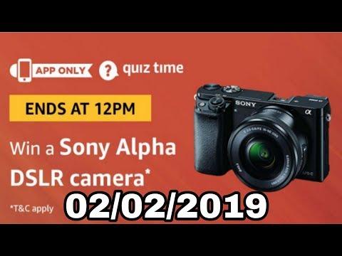 Amazon quiz answer today win a Sony Alpha DSLR camera