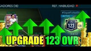 FIFA MOBILE 19 ¡UPGRADE GRL 123! GASTO MILLONES DE MONEDAS! TEAM UPGRADE OVR 123