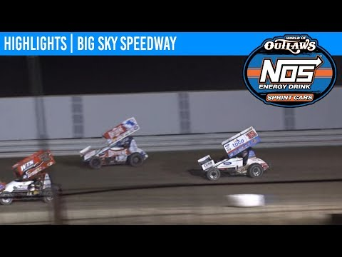 World of Outlaws NOS Energy Sprint Car Series Feature Event Highlights from Big Sky Speedway in Shepherd, Montana on August 24th, 2019. To view the full race, visit DIRTVision.com. - dirt track racing video image