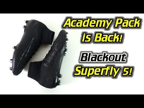 Academy Pack is Back! - Nike Mercurial Superfly 5 (Blackout 2017 Academy Pack) - Review + On Feet - UCUU3lMXc6iDrQw4eZen8COQ