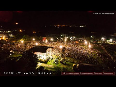 WATCH THE HEALING JESUS CAMPAIGN, LIVE FROM SEFWI BEKWAI - GHANA, DAY 3.