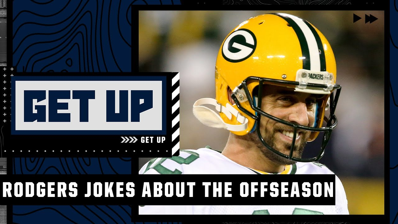 Reacting to Aaron Rodgers joking about his 'quiet offseason' | Get Up