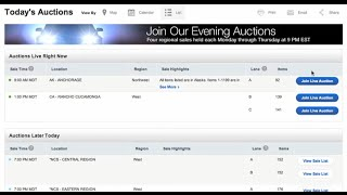 Using Auction Lists