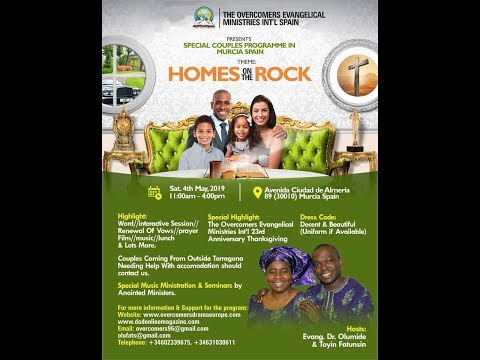 HOMES ON THE ROCK (COUPLES PROGRAM)