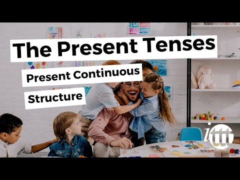 English Grammar - Present Continuous - Structure