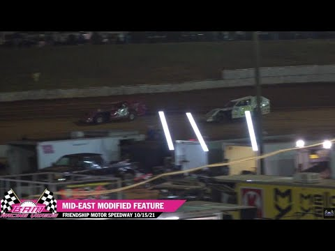 Mid-East Modified Feature - Friendship Motor Speedway 10/15/21 - dirt track racing video image