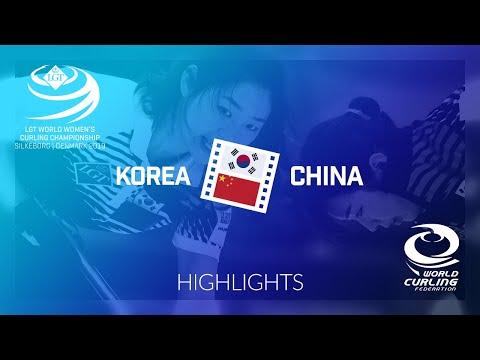 HIGHLIGHTS: Korea v China - round robin - LGT World Women's Curling Championship 2019