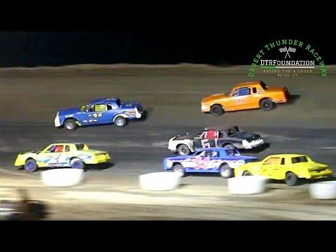 Desert Thunder Raceway IMCA Hobby Stock Main Event 7/24/21 - dirt track racing video image