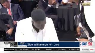 ZION WILLIAMSON chosen and training for NEW ORLEANS PELICANS