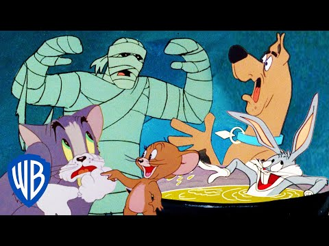 🔴 LIVE! BEST CLASSIC SPOOKY MOMENTS FROM SCOOBY-DOO, LOONEY TUNES & TOM & JERRY | WB KIDS