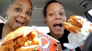 POPEYE'S CHICKEN SANDWICH CAME FOR CHICK-FIL-A MUKBANG!!