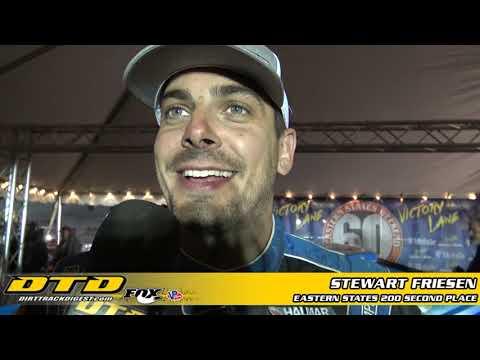 Stewart Friesen   Eastern States 200 Runner-Up Finisher   10/24/21 - dirt track racing video image