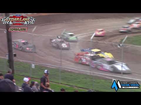 Cedar Lake Speedway USRA Limited Late Model A-Main (7/31/21) - dirt track racing video image