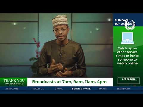 The Elevation Church Broadcast - God needs your network - 15th Aug 2021