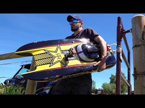 """Man and his GIANT Toy Boat - GAS Powered 48"""" """"ROCKSTAR"""" starts after 4 years Sitting Idle - UCxcjVHL-2o3D6Q9esu05a1Q"""